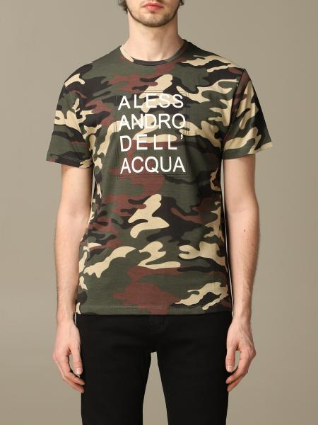 Alessandro Dell'acqua camouflage t-shirt with logo