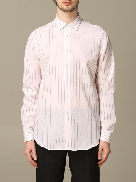 Alessandro Dell'acqua Boss shirt in linen and cotton with Italian collar