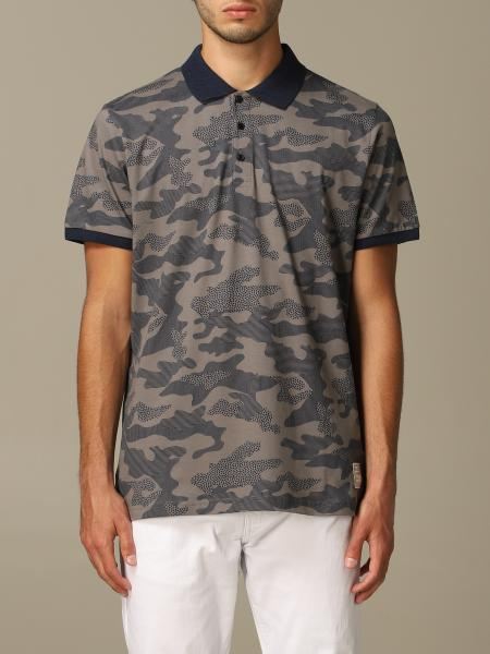 Alessandro Dell'acqua polo shirt in camouflage patterned cotton