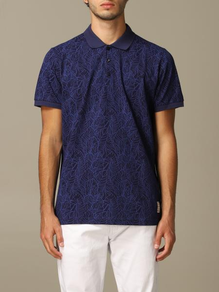 Alessandro Dell'acqua polo shirt in leaf patterned cotton