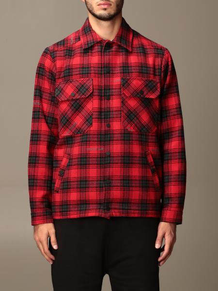 Off White men: Off White tartan jacket with back logo