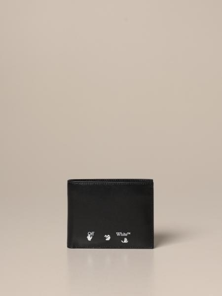Off White leather wallet with logo