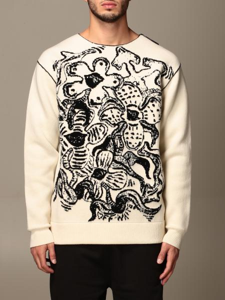Off White men: Off White crewneck sweatshirt with floral pattern