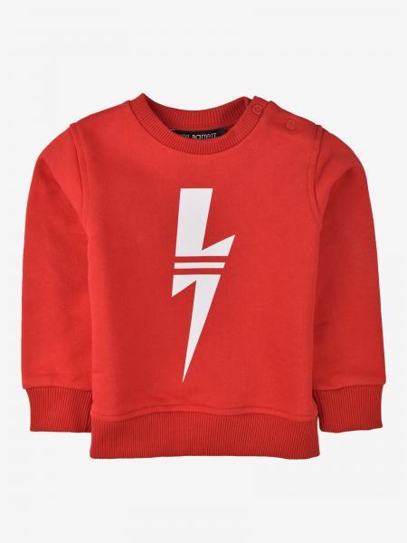 Neil Barrett crewneck sweatshirt with bolt of lightning print