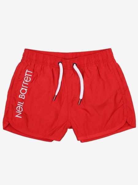 Neil Barrett nylon swimsuit with logo