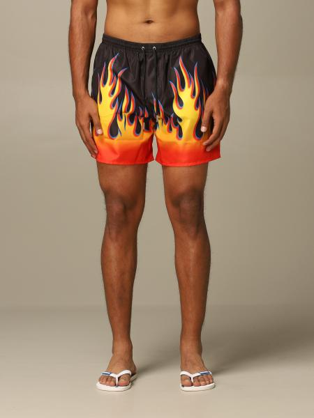Costume Dsquared2 in nylon con stampa fiamme