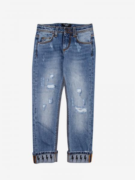 Neil Barrett jeans with printed lightning