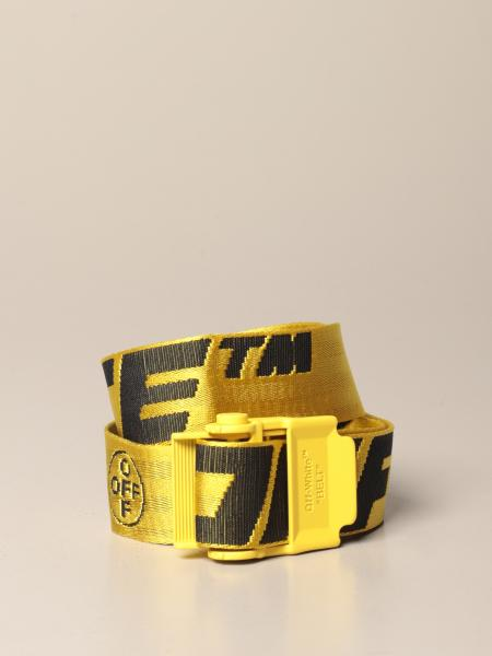 Off White men: Industrial Off White belt in logoed canvas
