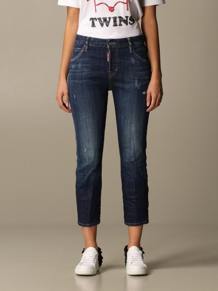 Dsquared2: Jeans Dsquared2 in denim used con rotture