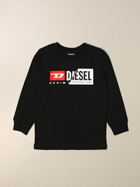 Diesel cotton crew neck sweater with logo