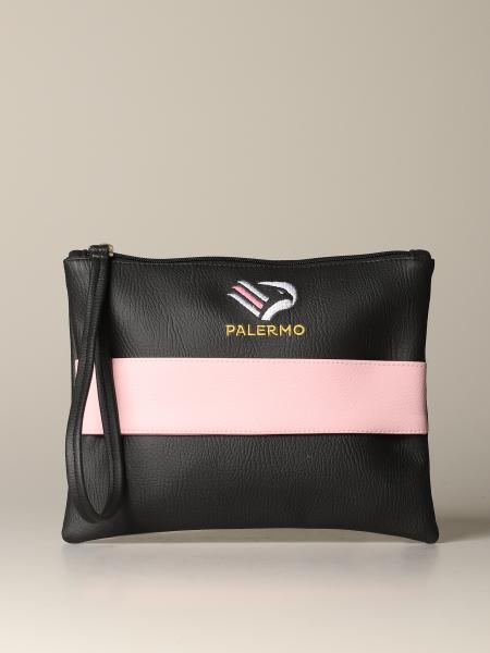 Palermo clutch bag in synthetic leather with emblem