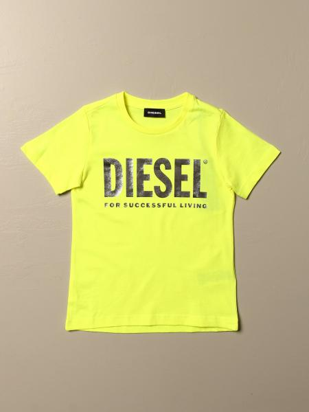 Diesel crew neck cotton t-shirt with logo