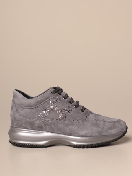 Hogan Interactive sneakers in suede with flower H