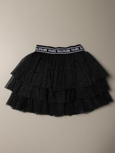 Balmain skirt in flounced tulle