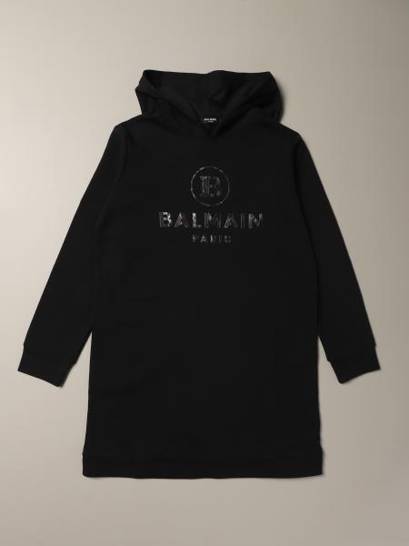 Balmain sweatshirt dress with logo