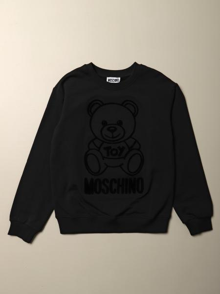 Felpa Moschino Kid con big teddy in floccato