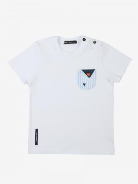 T-shirt Daniele Alessandrini con taschino a toppa