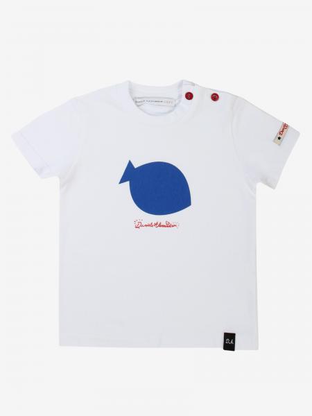 T-shirt Daniele Alessandrini con stampa pesce