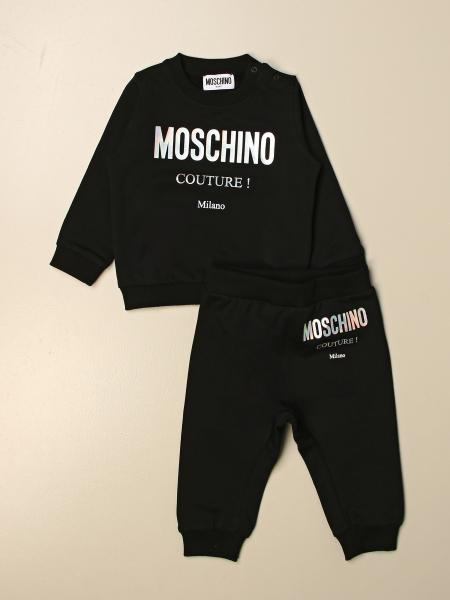 Complete sweatshirt + Moschino Baby trousers with logo