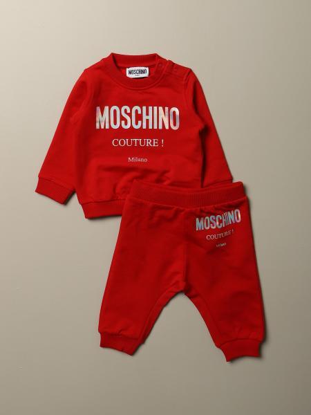 Completo felpa + pantalone Moschino Baby con logo