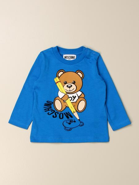 Moschino Baby T-shirt with Teddy logo design