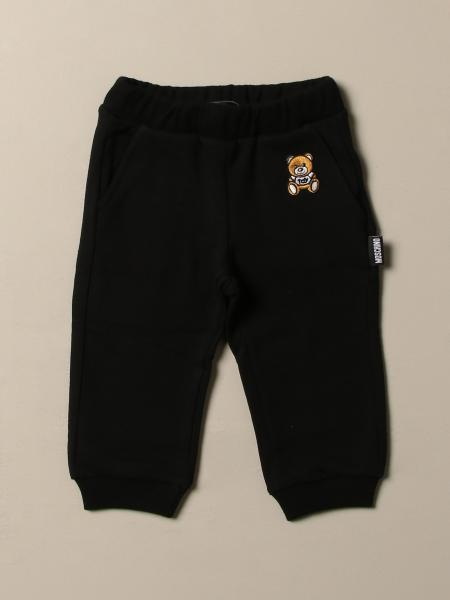 Moschino Baby jogging trousers in cotton with Teddy
