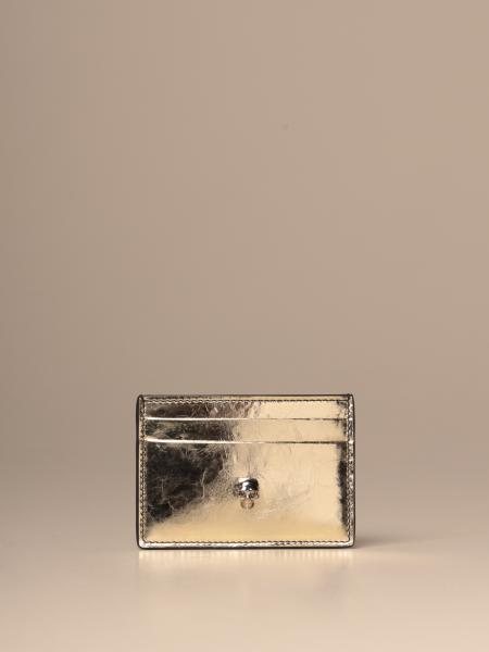 Mcq McQueen credit card holder in laminated leather