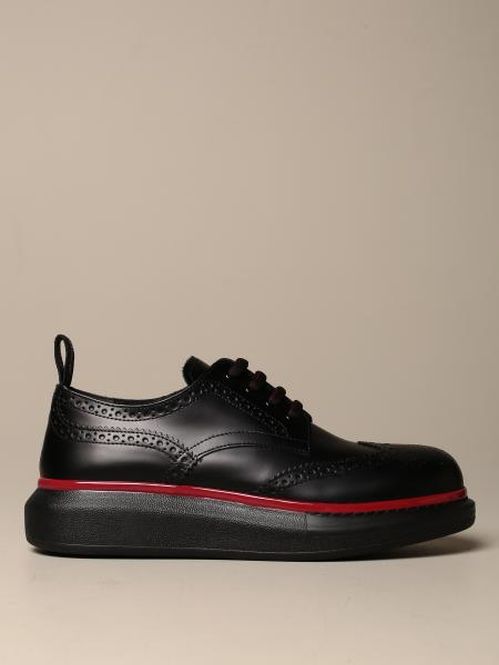 Mcq McQueen lace-up derby in leather with brogue motif