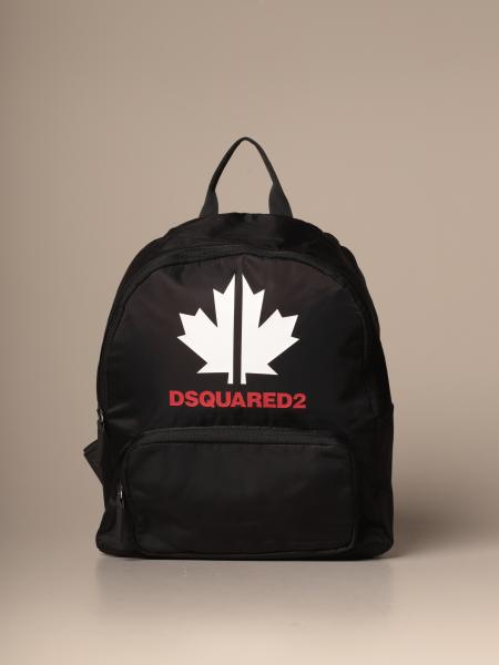 Dsquared2 Junior backpack in nylon with maple leaf