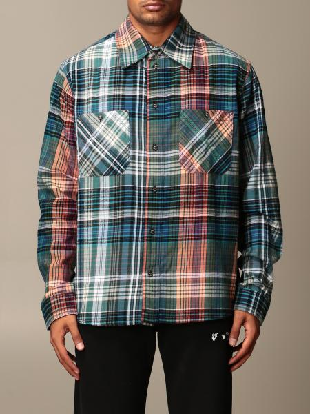 Off White men: Off White shirt in check flannel