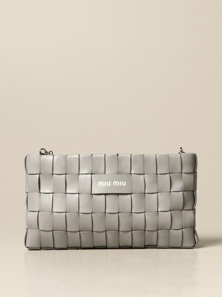 Miu Miu: Miu Miu shoulder bag in woven leather