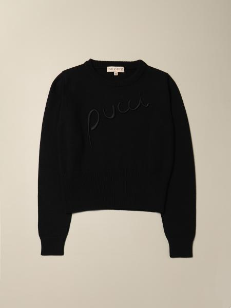 Emilio Pucci: Emilio Pucci cotton sweater with embroidered logo