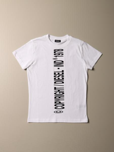 Diesel cotton crew-neck t-shirt with copyright logo