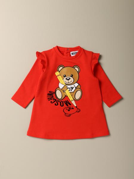 Moschino Baby dress with Teddy logo design