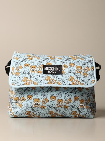 Teddy Moschino Baby diaper bag in cotton