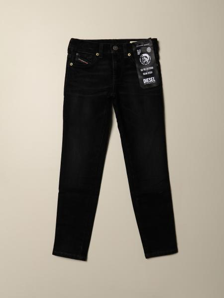 Diesel straight jeans in dark denim