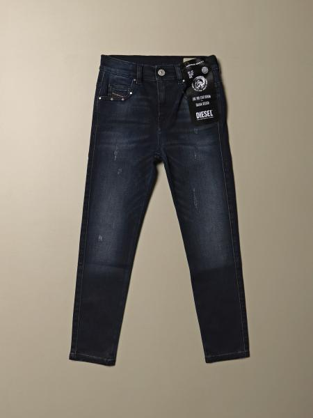 Jeans Diesel skinny fit in denim con micro rotture