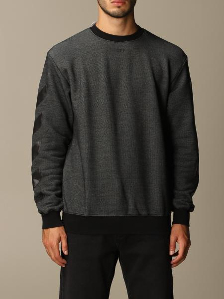 Off White men: Off White cotton blend sweatshirt with big rear arrows