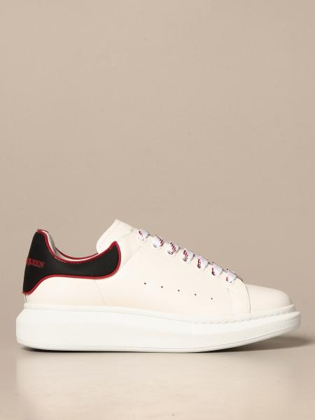 Alexander McQueen sneakers in leather with logo