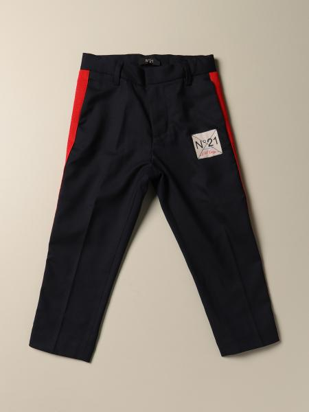 N ° 21 trousers in wool blend with bands
