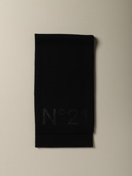 N ° 21 wool blend scarf with logo