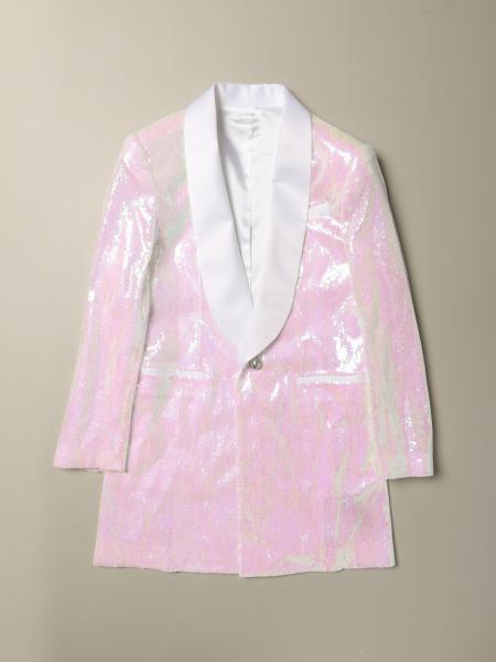 Balmain: Balmain long-sleeved blazer dress with sequins