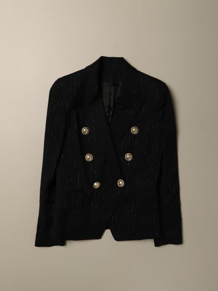 Balmain double-breasted jacket in viscose blend