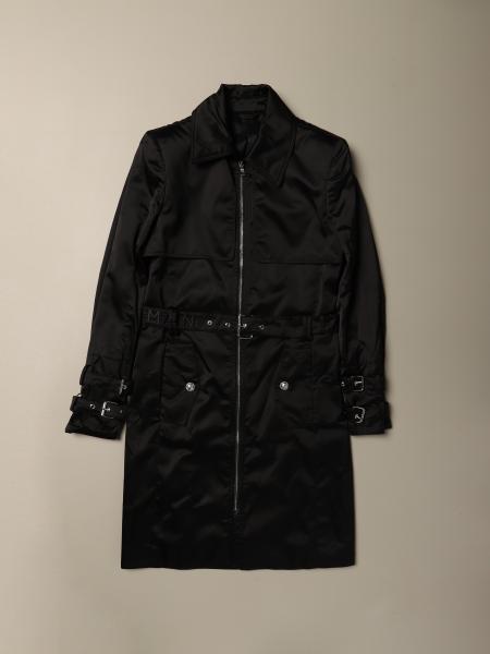 Balmain long nylon coat with belt