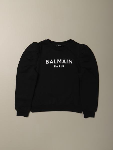 Balmain cotton sweatshirt with logo