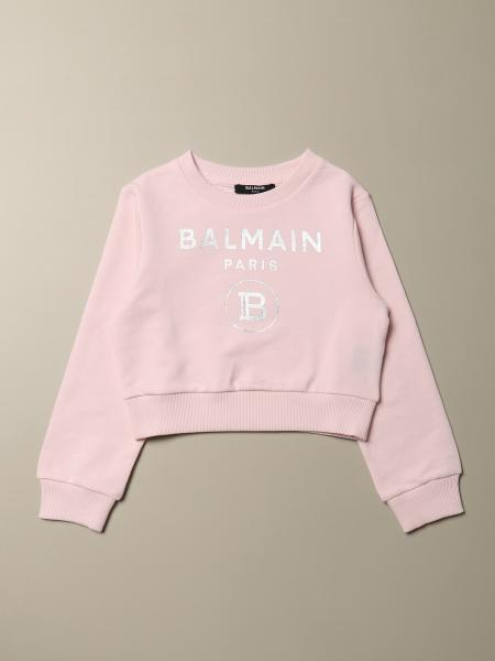 Balmain cropped sweatshirt with logo