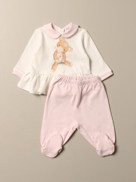 Cotton shirt + jumpsuit with Monnalisa foot