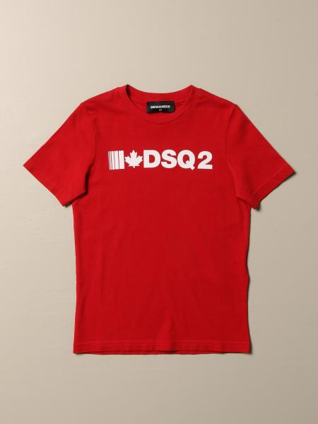 T-shirt Dsquared2 Junior in cotone con logo DSQ2