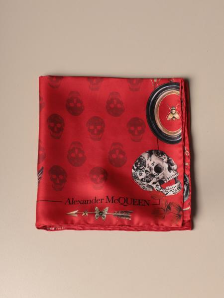 Foulard Mcq McQueen in pura seta con stampa teschi