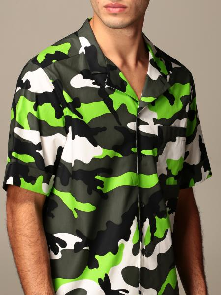 Valentino: Valentino shirt in camouflage patterned cotton